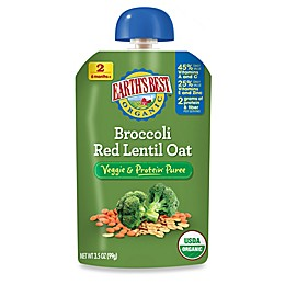 Earth's Best® Organic 3.5 oz. Broccoli Red Lentil Oat Veggie & Protein Puree