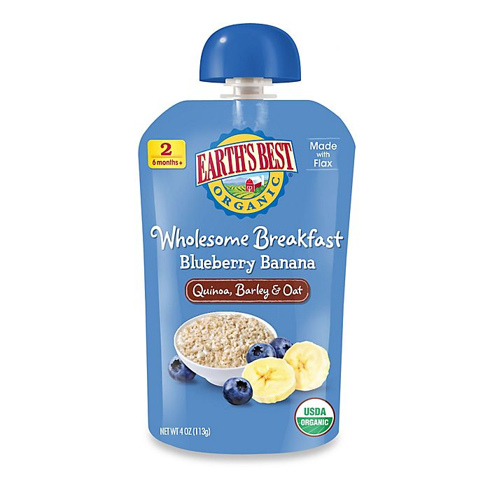 Alternate image 1 for Earth's Best® Organic 4 oz. Wholesome Breakfast Blueberry Banana