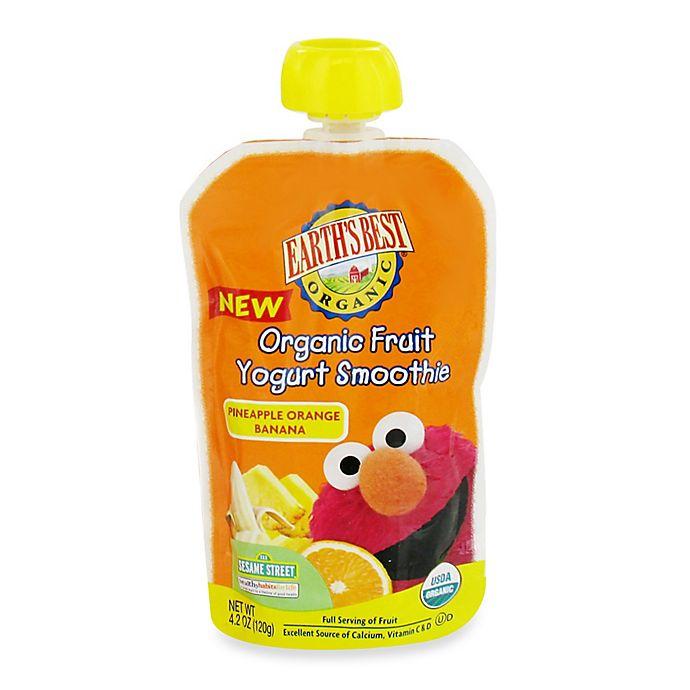 Alternate image 1 for Earth's Best® Organic 4.2 oz. Sesame Street Pineapple Orange Banana Fruit Yogurt Smoothie