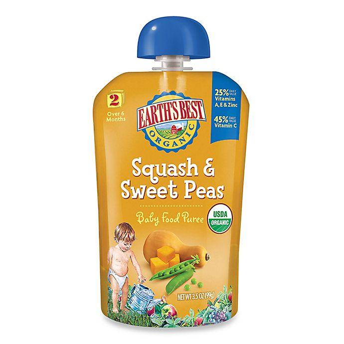Alternate image 1 for Earth's Best® Organic 3.5 oz. Squash & Sweet Peas Baby Food Puree