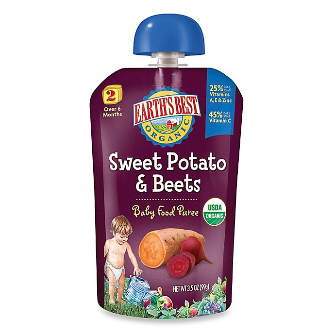Alternate image 1 for Earth's Best® Organic 3.5 oz. Sweet Potato & Beets Baby Food Puree