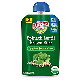 Earth's Best® Organic 3.5 oz. Spinach Lentil Brown Rice Veggie & Protein Puree