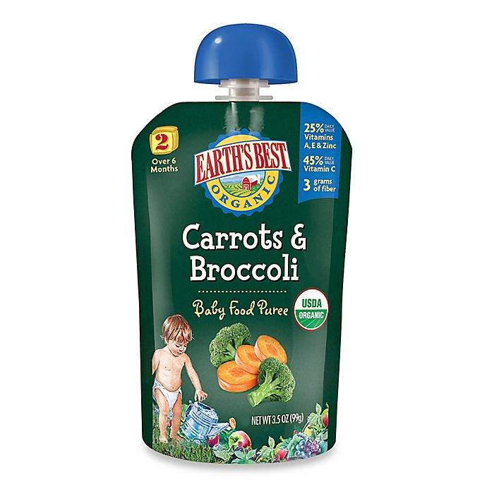 Alternate image 1 for Earth's Best® Organic 3.5 oz. Carrots & Broccoli Baby Food Puree