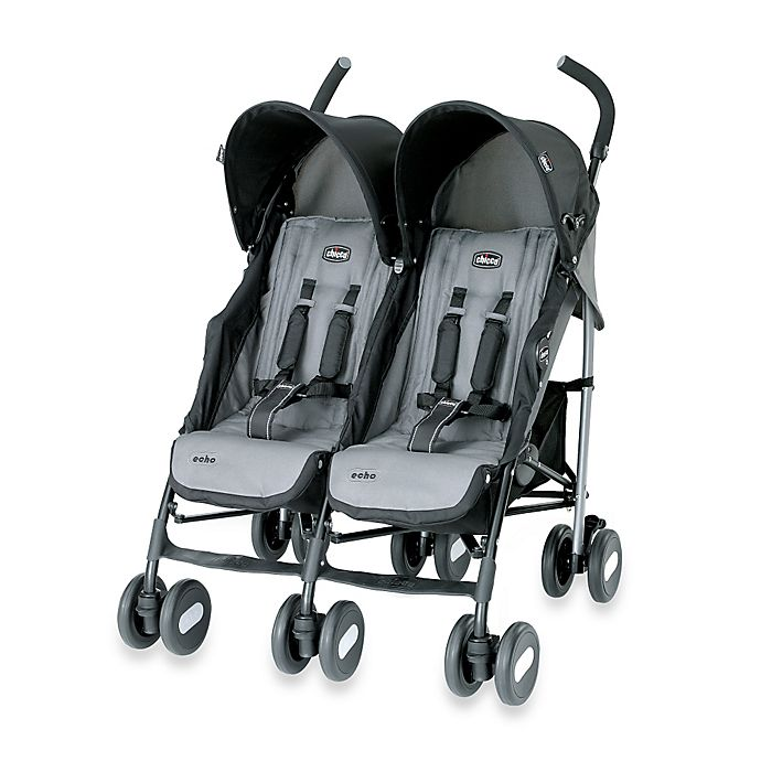 Alternate image 1 for Chicco® Echo™ Twin Stroller in Coal
