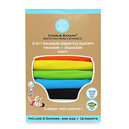 Charlie Banana® 6-Pack 2-in-1 Cloth Diapers in Tango