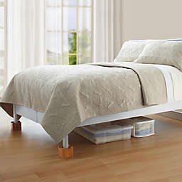 Mahogany Wooden Bed Lifts (Set of 4)