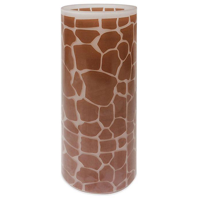 Alternate image 1 for 10-Inch Giraffe Print Glass Candle Holder