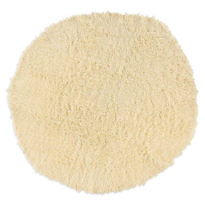 Alternate image 1 for Linon Home Flokati 8-Foot Round Rug in Natural