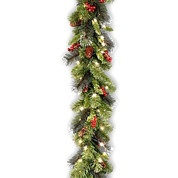 National Tree Company Crestwood Spruce 9-Foot Pre-Lit Garland with Clear Lights