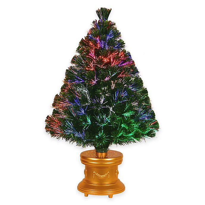 National Tree 3-Foot Fiber Optic Evergreen Christmas Tree ...