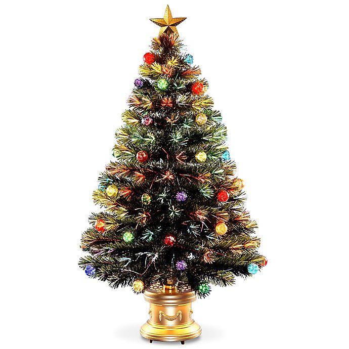 Alternate image 1 for National Tree Fiber Optic Fireworks Ornamental Tree with Gold Base