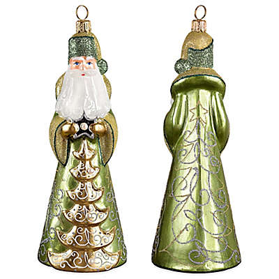 Russian Pearl Santa With Fresh Water Pearls Hanging Ornament