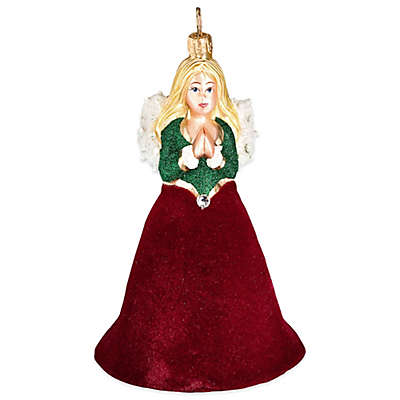 Angel With Red Velvet Hanging Ornament