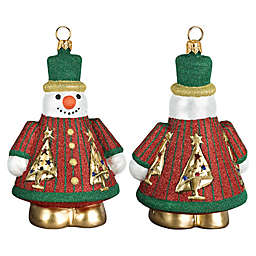 Jeweled Forest Snowman Hanging Ornament