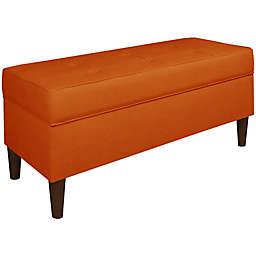 Skyline Furniture Patriot Storage Bench in Tangerine