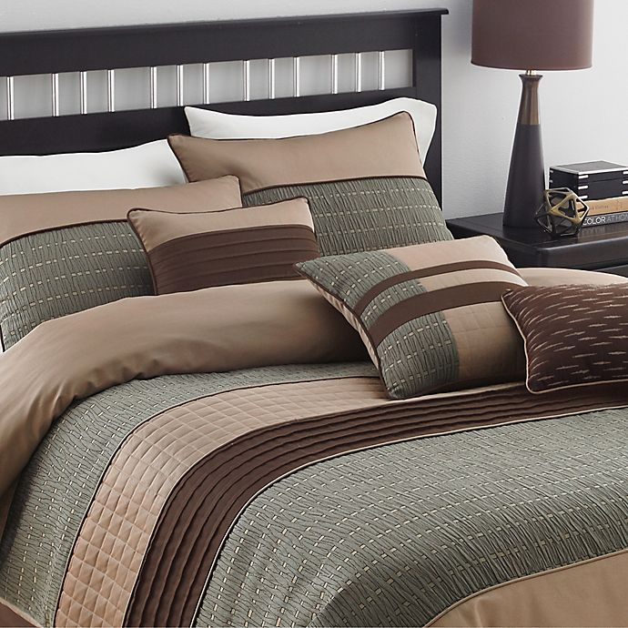 Lexia Comforter Set Bed Bath Beyond, Earth Tone Bedding Collections