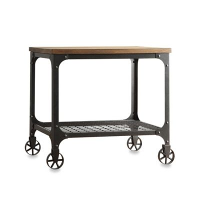 Inspire Q Morgan Wood And Metal End Table With Fixed Wheels Bed Bath Beyond