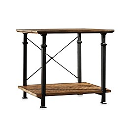 Verona Home Wood and Metal Parkway End Table in Brown