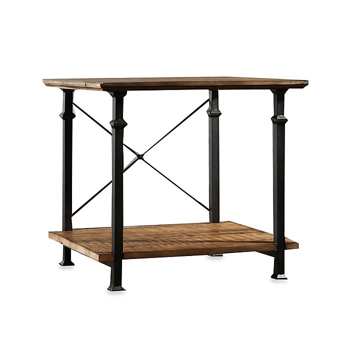 Alternate image 1 for Verona Home Wood and Metal Parkway End Table in Brown