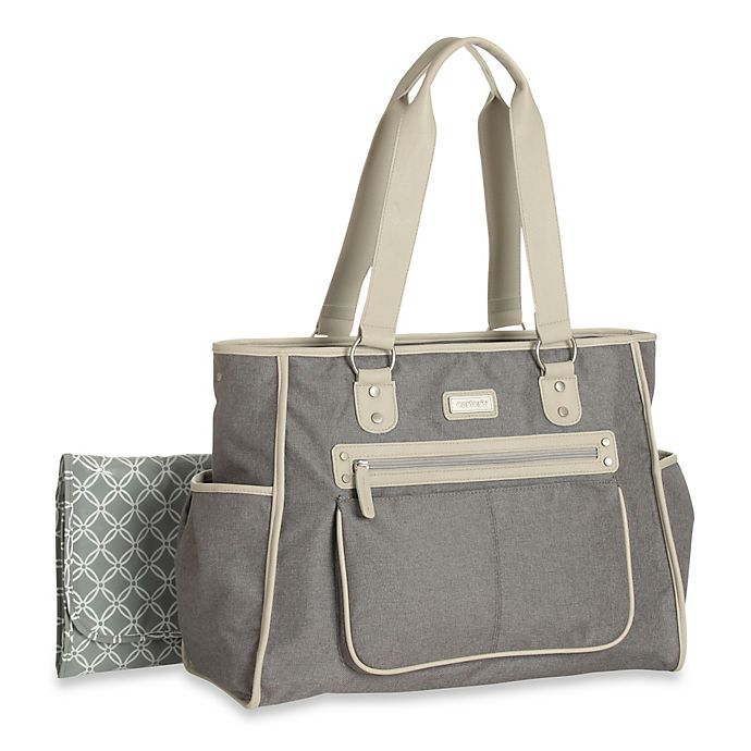 Alternate image 1 for carter's® Essence Diaper Bag in Grey