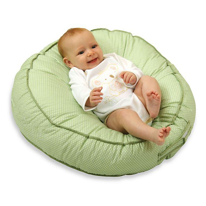 Alternate image 1 for Leachco® Podster® Sling-Style Infant Lounger in Green Pin Dot