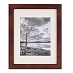 Real Simple® 13-Inch x 16-Inch Espresso Wood Frame with Ivory Mat for 8-Inch x 10-Inch Photo