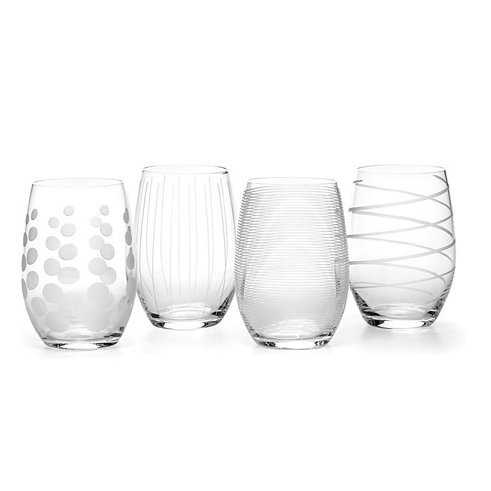 Alternate image 1 for Mikasa® Cheers 17 oz. Stemless Wine Glasses (Set of 4)