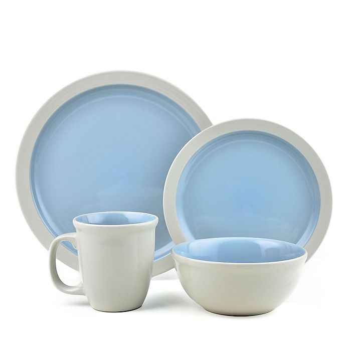 Alternate image 1 for Thomson Pottery Mali 16-Piece Dinnerware Set in Blue