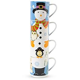 Maxwell & Williams™ Kris Kringle Snowman Stackable Holiday Mugs (Set of 4)