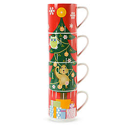 Maxwell & Williams™ Kris Kringle Tree Stackable Holiday Mugs (Set of 4)
