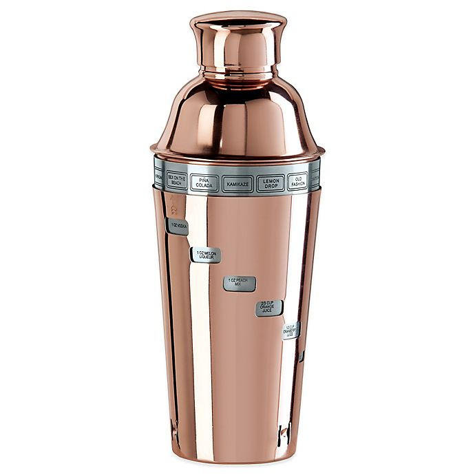Alternate image 1 for Oggi™ Copper Plated Dial A Drink™ Cocktail Shaker