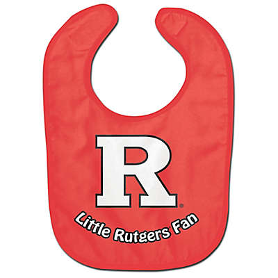 Little Rutgers Fan All-Pro Style Bib in Red/White