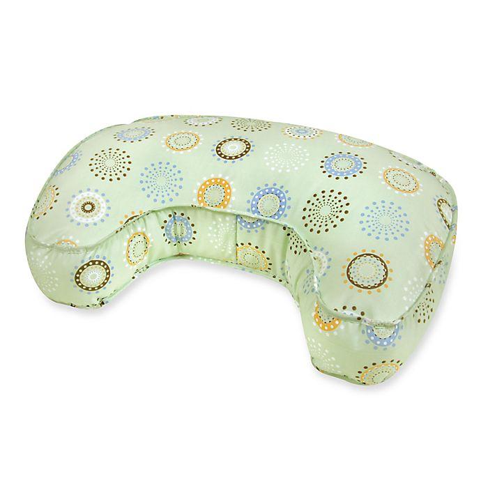 Alternate image 1 for Leachco® The Natural™ Original Contoured Nursing Pillow in Green Sunny Circles