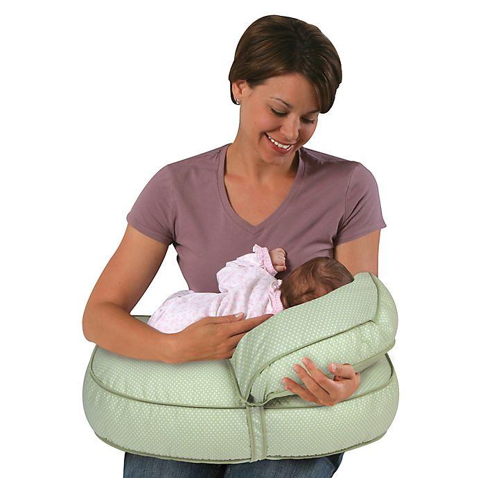 9015e314ca843 Leachco® Natural Boost Original Adjustable Nursing Pillow Set in Green Pin  Dot