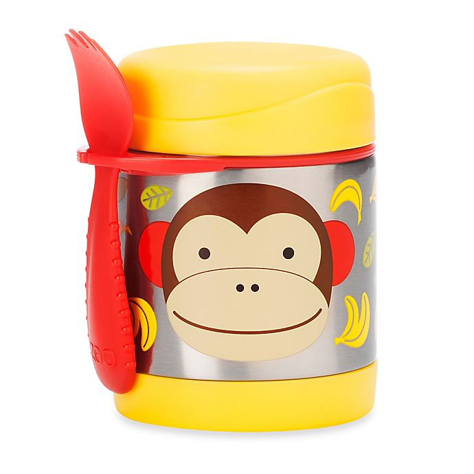 Alternate image 1 for SKIP*HOP® Zoo 11 oz. Insulated Food Jar in Monkey