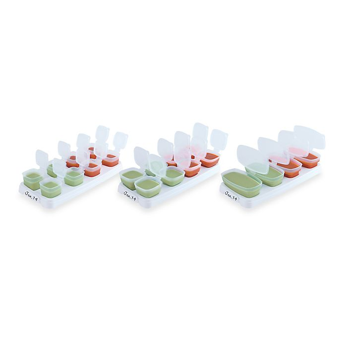 Alternate image 1 for Baby Cubes® 1 oz. Baby Food Storage Containers (Set of 8)