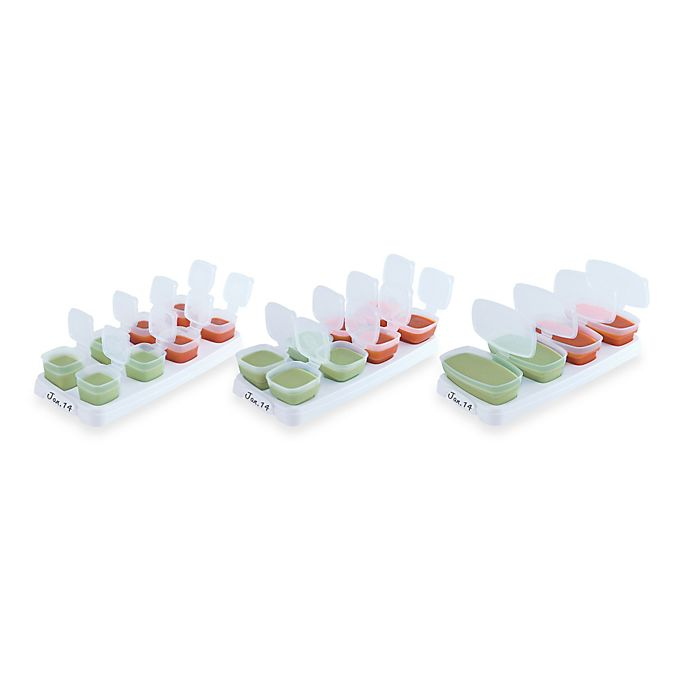 Alternate image 1 for Baby Cubes® 2 oz. Baby Food Storage Containers (Set of 8)