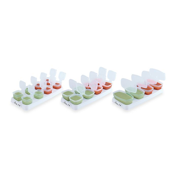 Alternate image 1 for Baby Cubes® 4 oz. Baby Food Storage Containers (Set of 4)