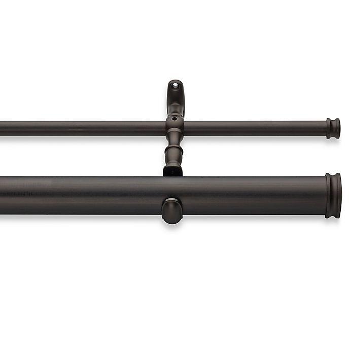 Alternate image 1 for Cambria® Elite Complete Double Drapery Rod in Matte Brown