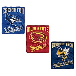 Collegiate Raschel Throw Blanket Collection