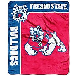 Fresno State University Raschel Throw Blanket