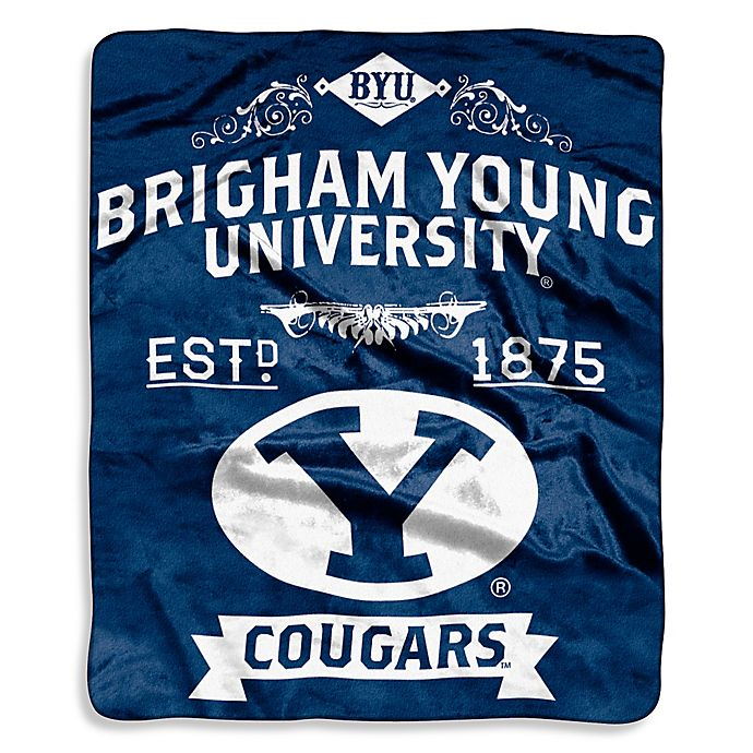 Alternate image 1 for Brigham Young University Raschel Throw Blanket