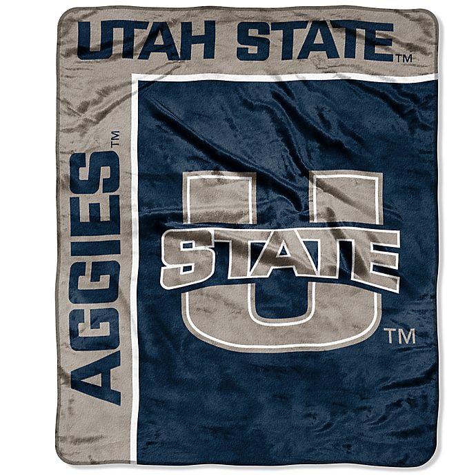 Alternate image 1 for Utah State University Raschel Throw Blanket