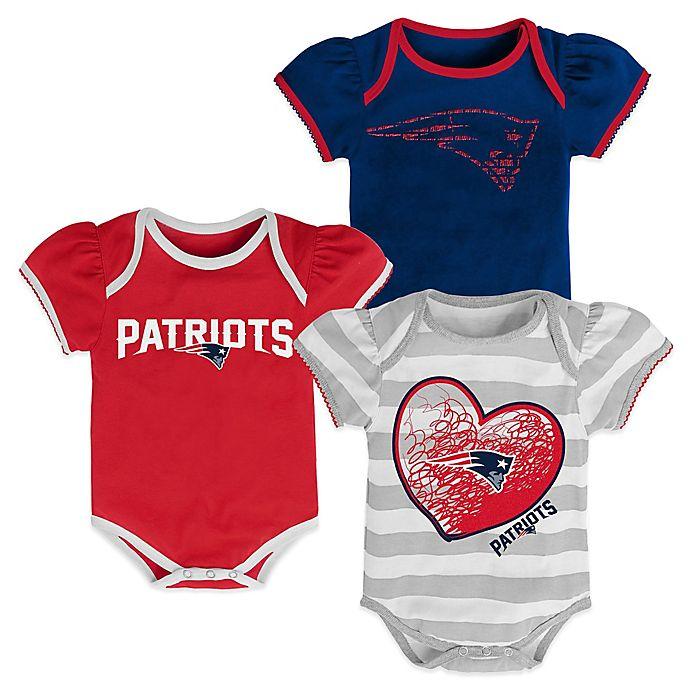 NFL 3-Piece New England Patriots Bodysuit Set  a0401fe16