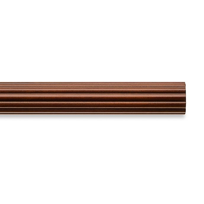 Cambria® Classic Wood Decorative Fluted Drapery Pole in