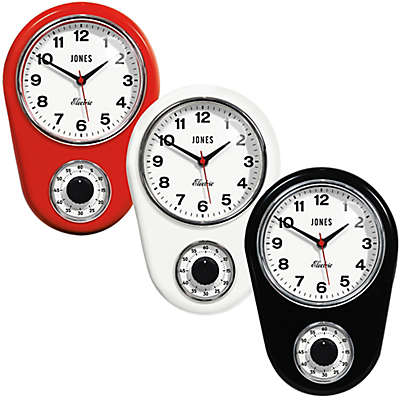 Jones® Clocks Timer Wall Clock