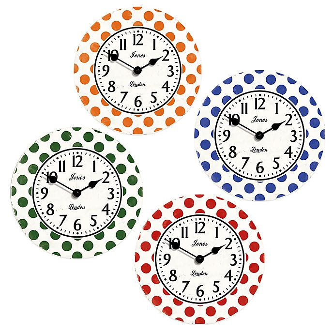 Alternate image 1 for Jones® Clocks Dotty Wall Clock
