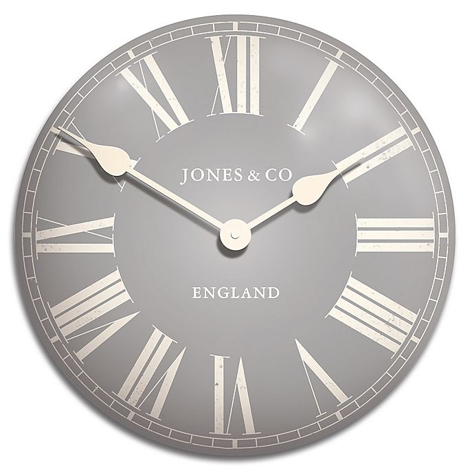 Jones 174 Clocks Stroud Convex Tin Wall Clock Bed Bath Amp Beyond