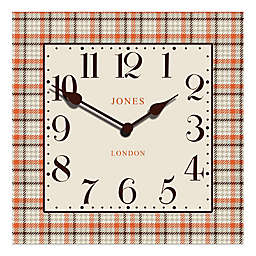 Jones® Clocks Tartan Square Wall Clock