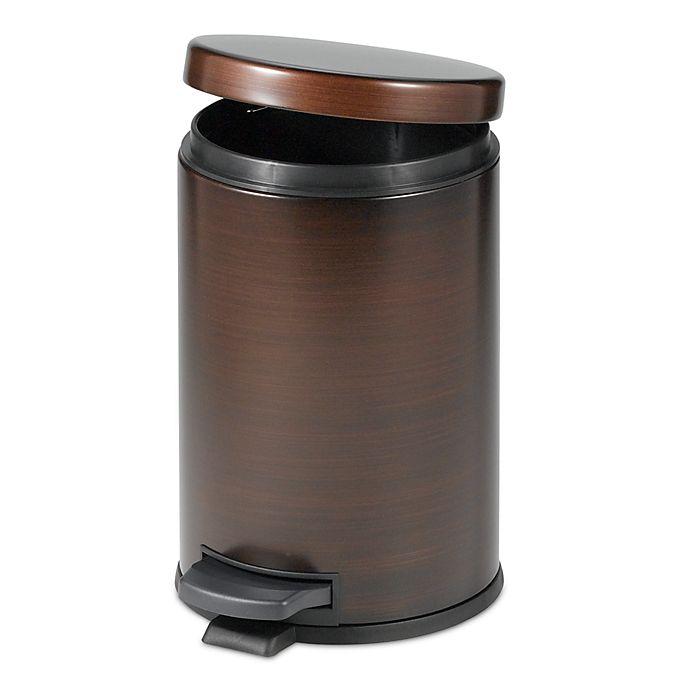 Alternate image 1 for India Ink Step-On Bathroom Wastebasket in Oil Rubbed Bronze